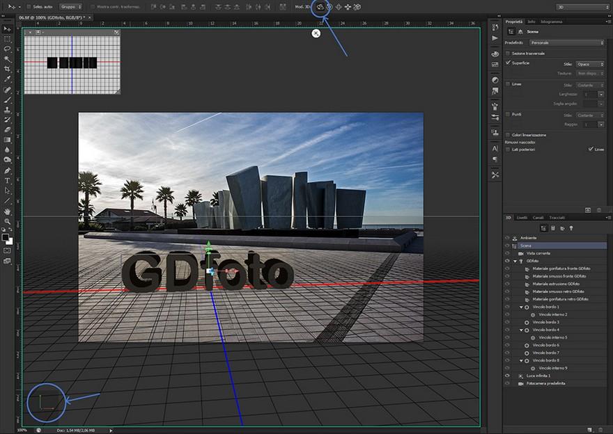 Photoshop: Usare il Fuoco Prospettico - YouTube